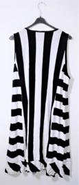 M Fashionwear zwart/witte jurk-4XL