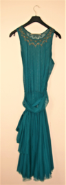 Cora Kemperman groene tule jurk-M