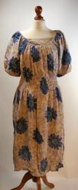 Jackpot blauwebloem jurk- 36