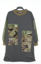 K.S7S zwarte/groene trui- XL