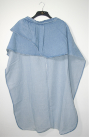 Ymhy blauwe overrok-M