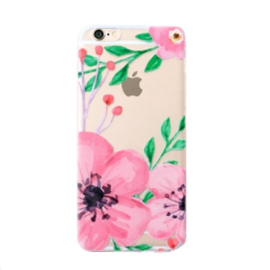 Softcase telefoonhoesje Iphone 5 flowerprint