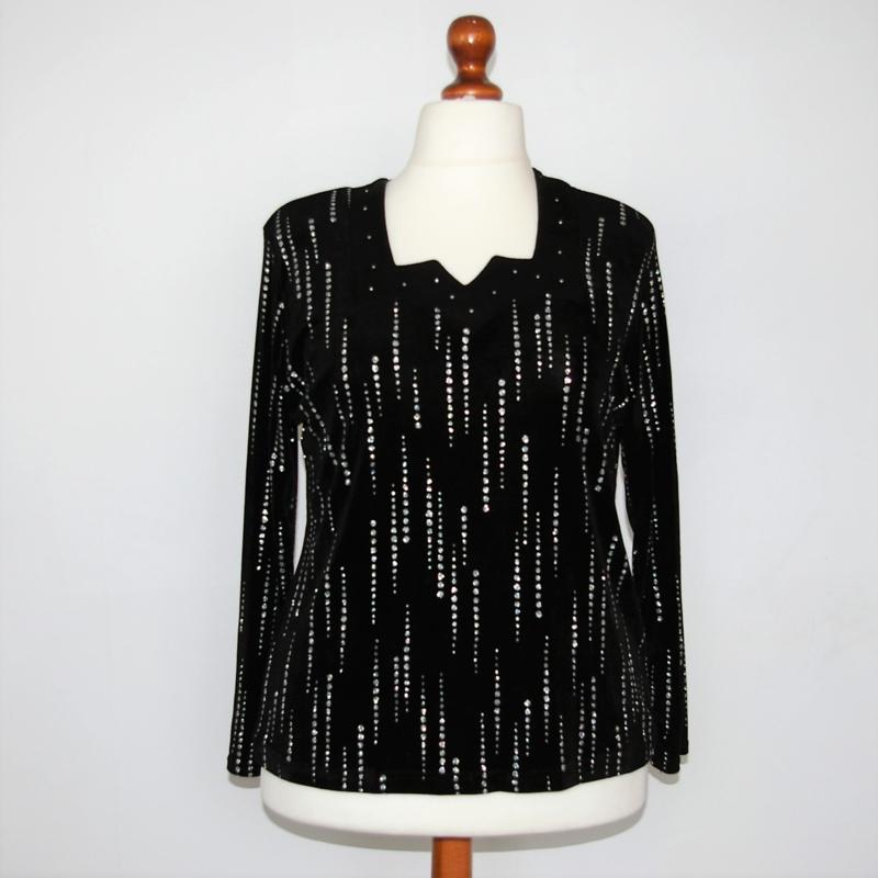 100% Feminin zwart shirt-XXL