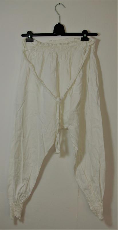 Witte zouavenbroek- S