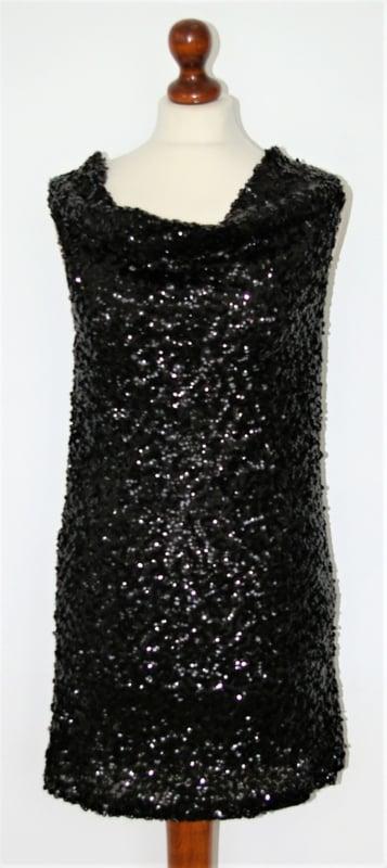 Sweewë zwarte pailletten jurk- S/M