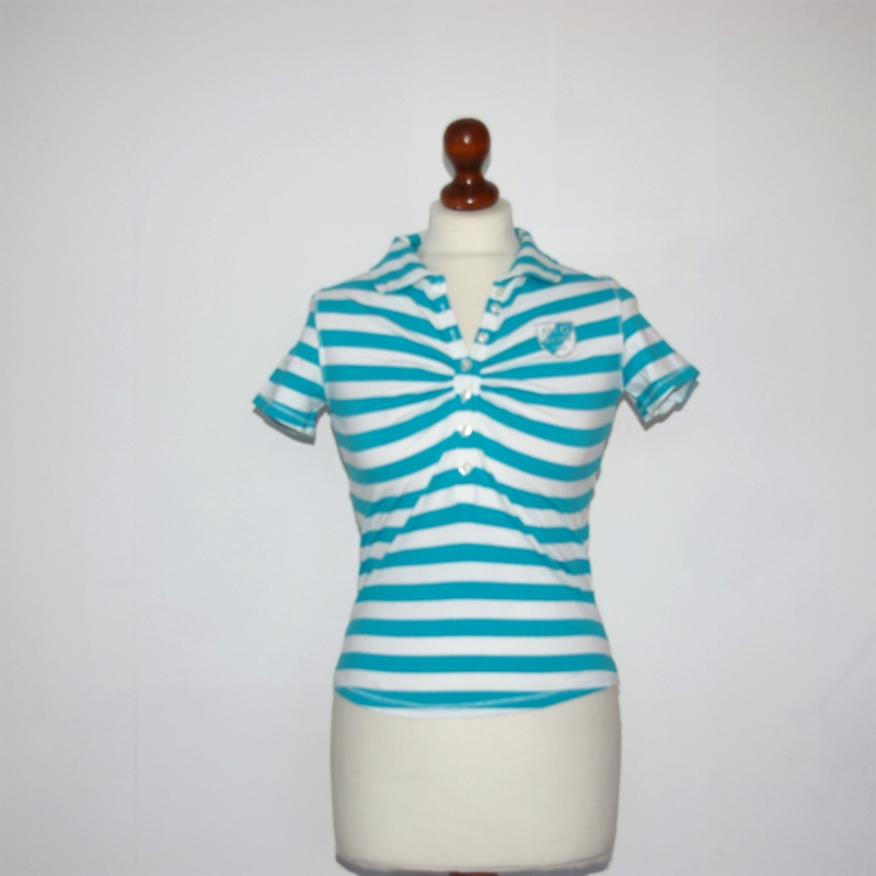 McGregor blauw-wit gestreept shirt-S
