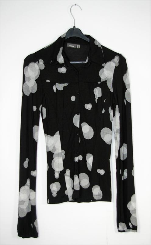 Mexx zwart/witte blouse-S