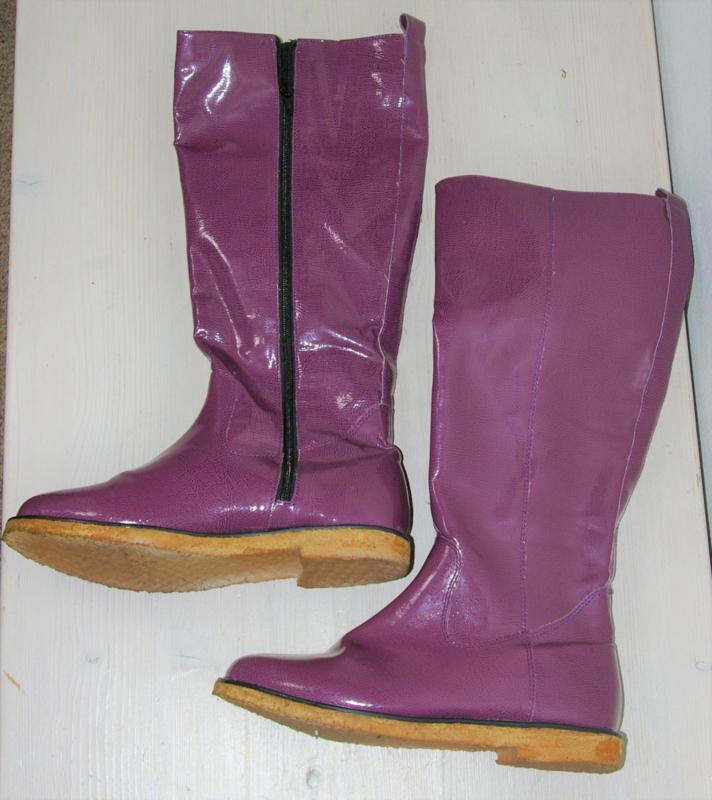 Paarse hoge laarzen-39