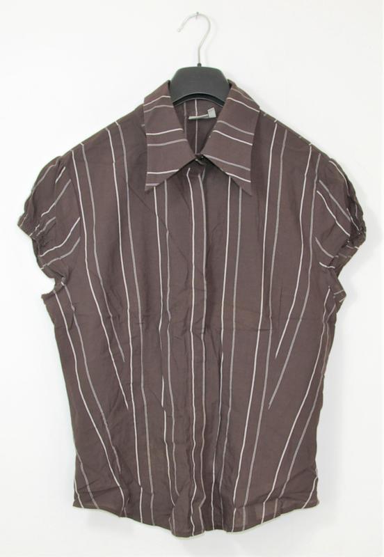 We bruine streep blouse-44