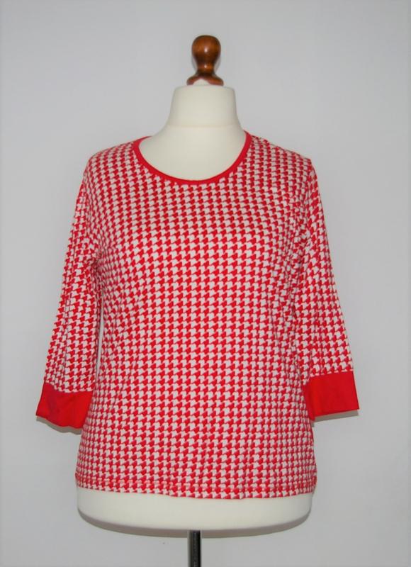 Olsen rood-wit shirt-46