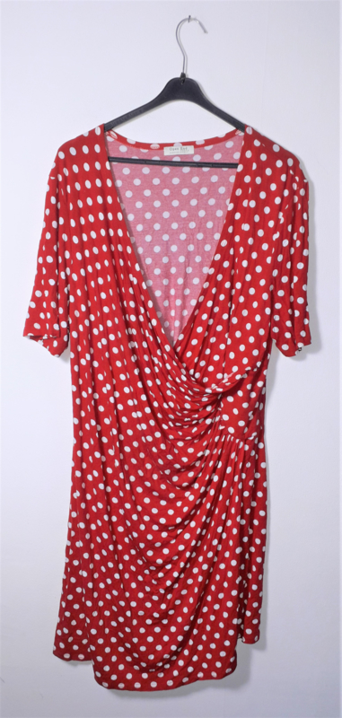 Open End rood/witte jurk-52