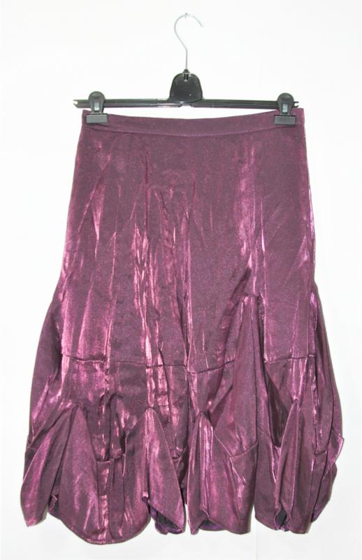 Art paars metallic look rok-L