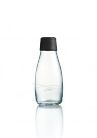 Retap Waterfles 0,3 lt met zwarte dop