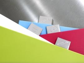 Gekleurde snijplanken Index STEEL