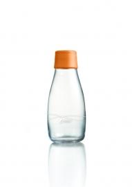 Retap Waterfles 0,3 lt met oranje dop