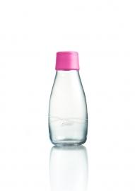 Retap Waterfles 0,3 lt met roze dop