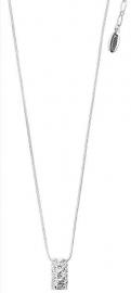 Zilveren ketting met strass hanger