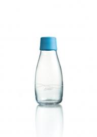 Retap Waterfles 0,3 lt met turqoise dop
