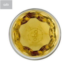 "2 dubbelwandige QDO design theeglazen ""Crystalized"" 210 ml"