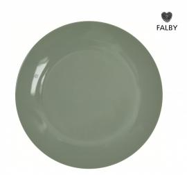 Porseleinen bordje pastel groen