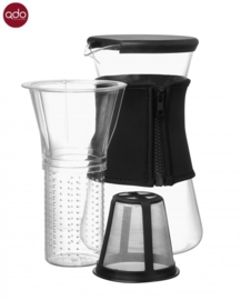 Hot & Cool Pitcher, 1,2 liter karaf zwart