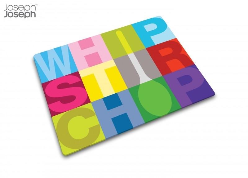 Glazen snijplank Whip Stir Chop
