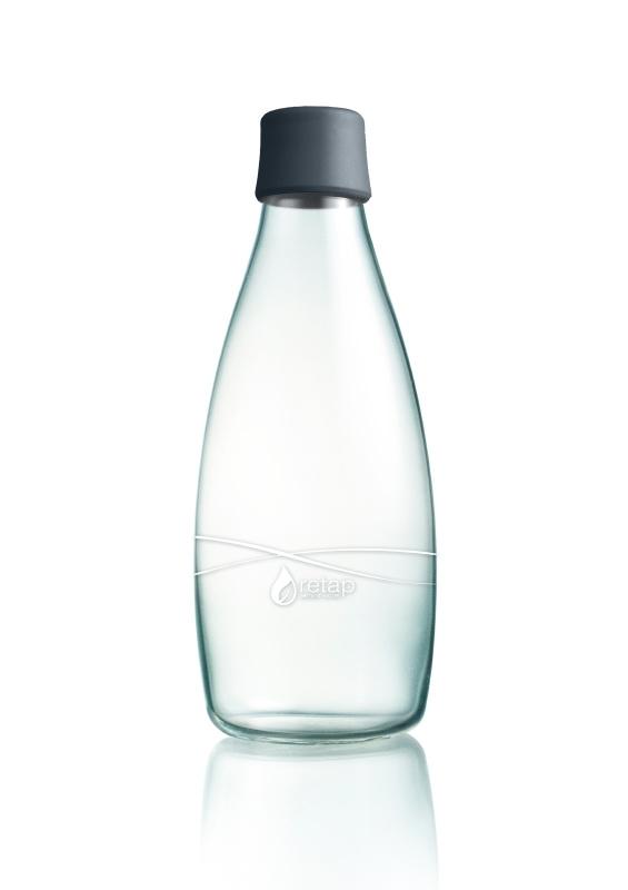 Retap Waterfles 0,8 lt met grijze dop
