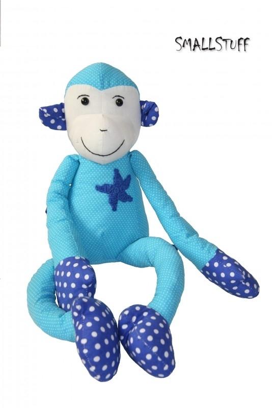 Knuffelaap blauw met sherrifster