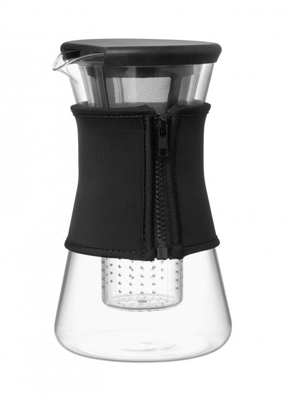 Hot & Cool Pitcher, 1,2 liter karaf zwart
