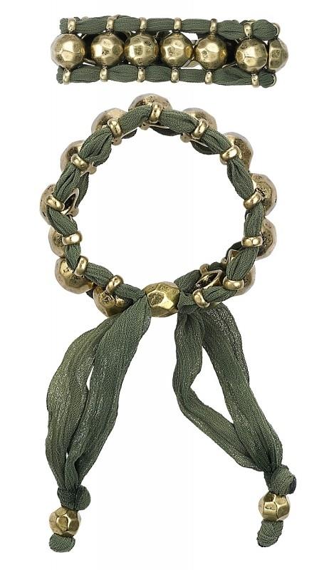 Pilgrim Design Groene armband met dubbele band