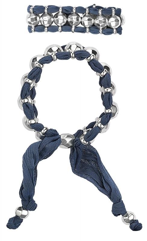 Pilgrim Design blauwe armband met dubbele band