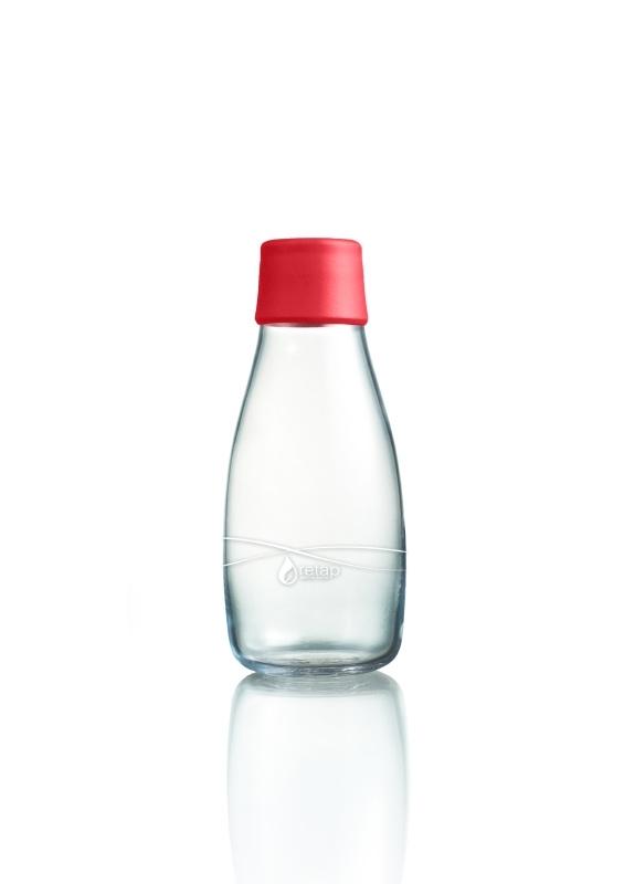 Retap Waterfles 0,3 lt met rode dop