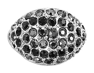 Verstelbare zilveren ring