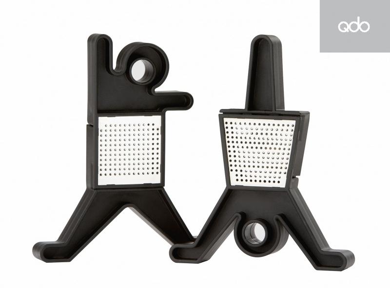 2 QDO design theehouders zwart