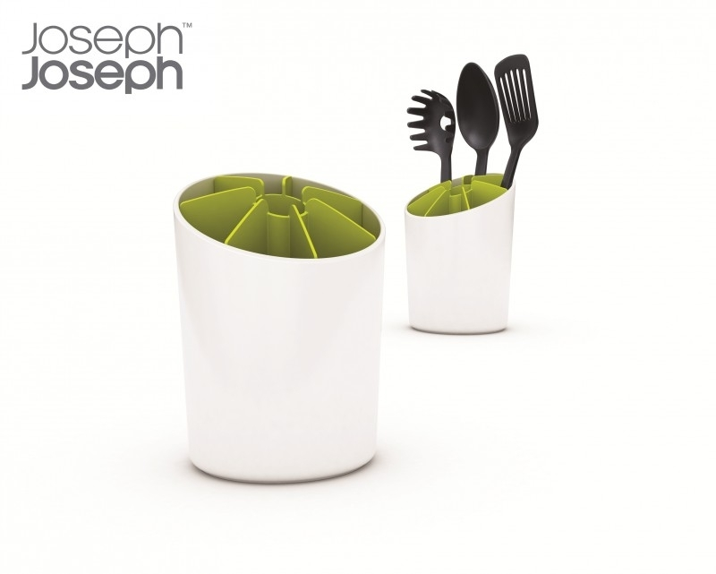 Spatelpot  groen / wit