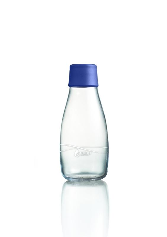 Retap Waterfles 0,3 lt met donkerblauwe dop