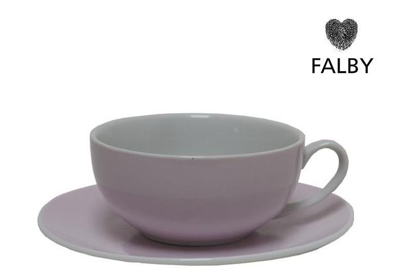 Porseleinen kop en gratis schotel pastel lavendel