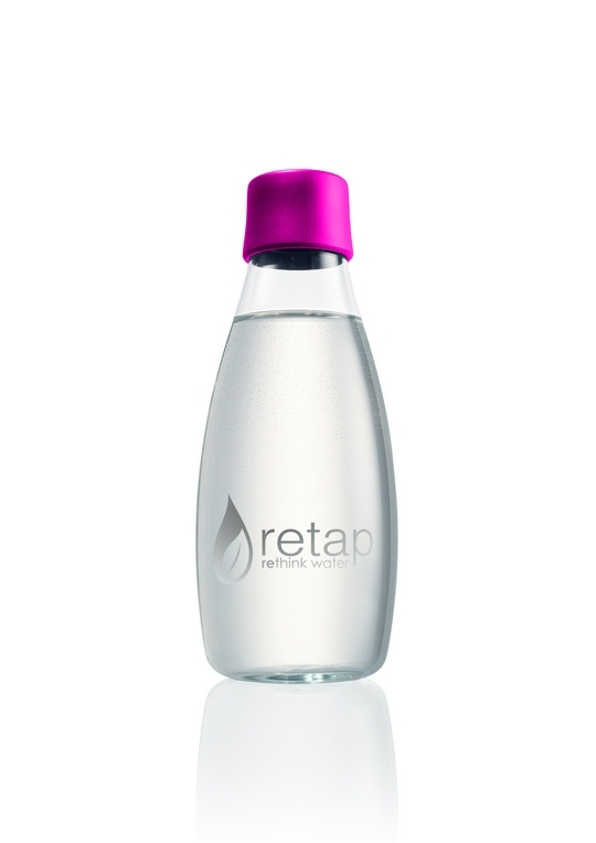 Retap Waterfles 0,5 lt met roze dop