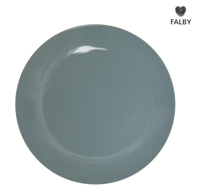Porseleinen bordje pastel blauw