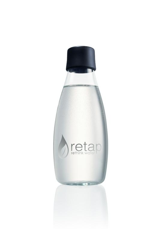 Retap Waterfles 0,5 lt met grijze dop