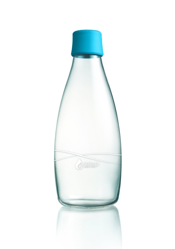 Retap Waterfles 0,8 lt met turquoise dop