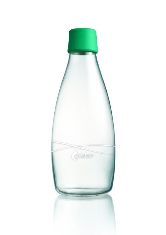 Retap Waterfles 0,8 lt met groene dop