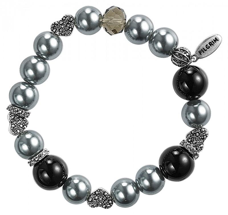 Armband zwart -  zilver