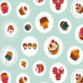 tafelzeil cupcakes, mint