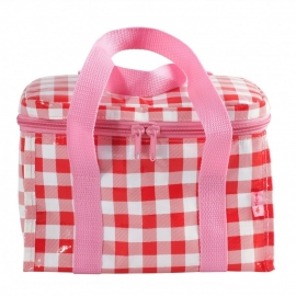 Rice cooler lunchbag met koel-element, rood