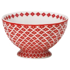 Greengate Stoneware Judy red French bowl small