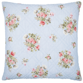 Greengate Cushion cover Petricia pale blue 50x50cm