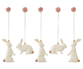 Maileg Easter bunny ornaments - 5 pcs