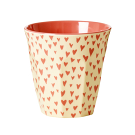 Rice melamine beker, mini hearts