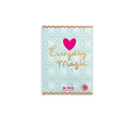 Rice Notebook A5 pale blue & heart